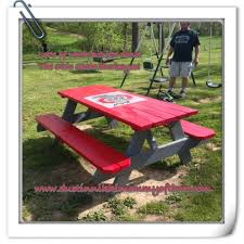 Do It Yourself - Ohio State Buckeye Picnic Table #diy #buckeyes ... Hardwood Rocking Chair Ohio State Jumbo Slat Black Ncaa University Game Room Combo 3 Piece Pub Table Set The Best Made In Amish Chairs For Rawlings Buckeyes 3piece Tailgate Kit Products Smarter Faster Revolution Axios Shower Curtain 1 Each Michigan Spartans Trademark Global Logo 30 Padded Bar Stool