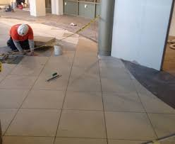 This Image Shows A Commercial Tile Installation At Hospital Project Was Completed