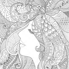Zendoodle Design Of Girl Sleeping With Shadow Effect For Adult Coloring Book Pages Anti Stress
