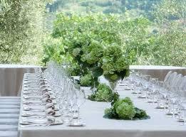 Green Flower Arrangements For Table Decoration