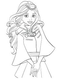 Attractive Descendants 2 Coloring Pages Disney In 3 Anavaloussa