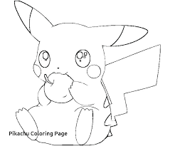 Pikachu Coloring Page Free Pages Of For Cute