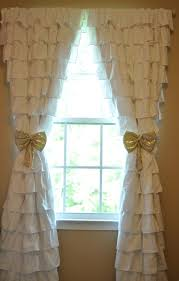Pink And Purple Ruffle Curtains by Ruffle Curtains Nursery Gold Tie Backs Oh Baby Pinterest