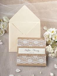 Custom Listing 20 Rustic Wedding Invitation Lace Invitations Recycled 4lovepolkadotslkadots