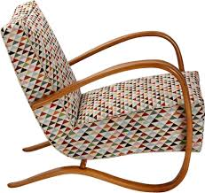 Czech H-269 Streamline Beige Easy Chair In Beechwood And Cotton By ...