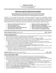 Financial Director Private Equity Executive Resume Sample