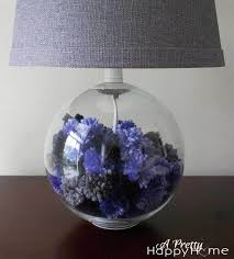 Fillable Craft Table Lamp by Lamp Base Filled With Yarn Pom Poms A Pretty Happy Home