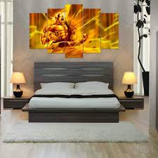 Dragon Ball Z Decorations by New 5 Pieces Sets Canvas Art 5 Panels Hd Dragon Ball Z Canvas