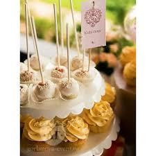 Wedding Cake Pops Cupcakes Rustic