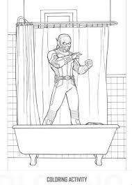 Free Antman Printable Coloring Activity Bathtub Scene