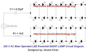 230 v 50hz ac or 110v 60hz operated led powerful l