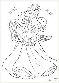 Coloring Pages Disney Princess Christmas N 1 2 3 4 Free