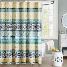 buy shower curtains yellow and green from bed bath beyond