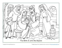 John The Baptist Coloring Pages For Preschoolers 1
