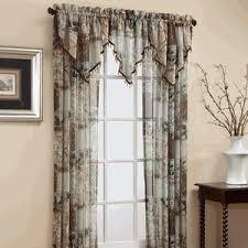Allen Roth Curtains Bristol by Allen Roth Anaheim Sheer Curtain 84 In L Geometric White Grommet