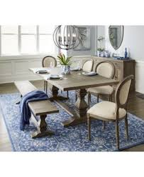 tristan trestle dining table created for macy s furniture macy s