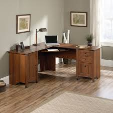 L Shaped Computer Desk by L Shaped Cherry Wood Computer Desk