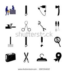Icon Instruments Tools Clipart Hammer Gardening Stock Vector And With