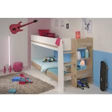 white bunkbed