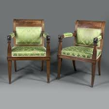 Empire Dining Chairs Mahogany The Premier Antiques Portal A Fine Set Of Fourteen Style Brass Inset