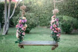 Swing WoodSwing TreeSwing RusticSwing GardenDecor WeddingProps Weddings FarmHouse Children Kids Girls Boys Rustic Childrens Playground