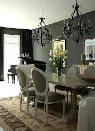 Black And Grey Living Room Curtains View In Gallery Sophisticated Traditional Dining With