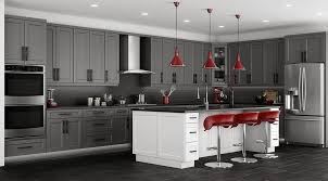 grey shaker kitchen cabinets rta cabinet store