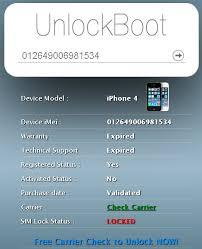 Free IMEI Checker IMEI UnlockBoot Giving Fake SIM Lock