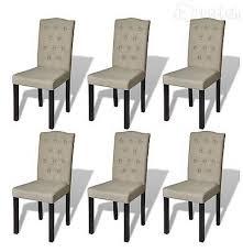 6x esszimmerstuhl esszimmer stuhl küchenstuhl stühle beige