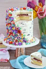Cakes Decorated With Russian Tips spring in bloom layer cake sugarhero