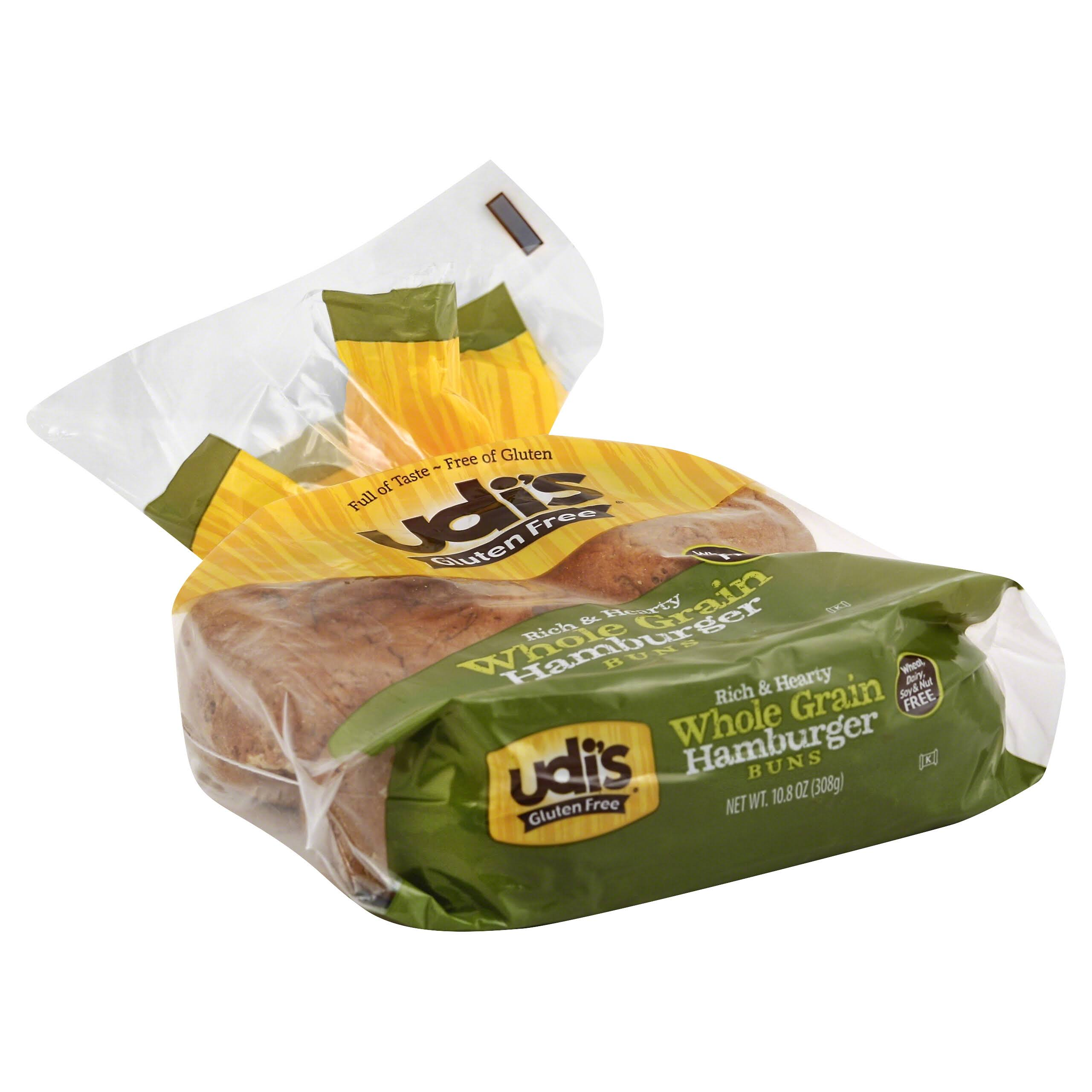 Udi's Gluten Free Whole Grain Hamburger Buns - 4 Pack