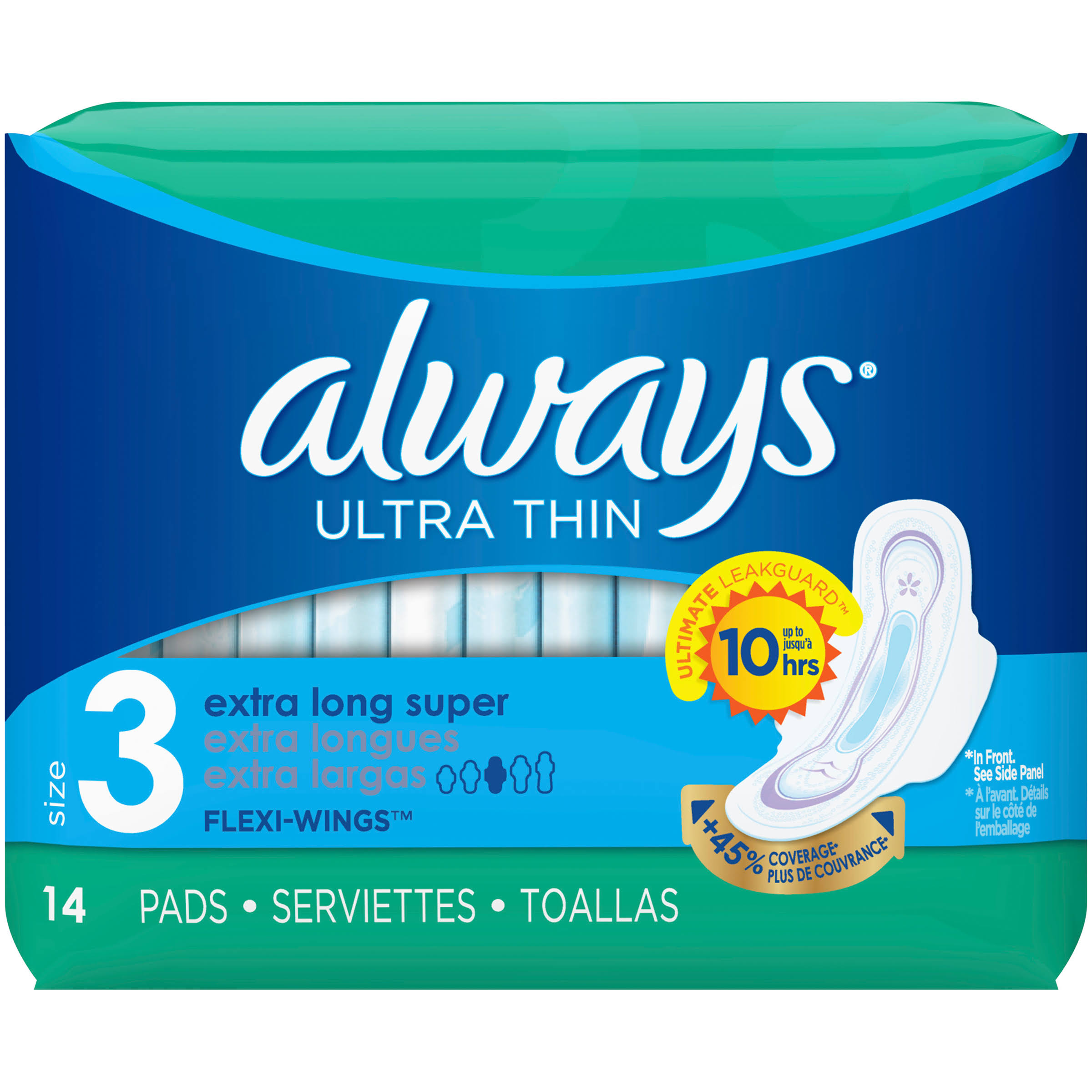 Always Ultra Thin Size 3 Extra Long Super Pads - 14pcs