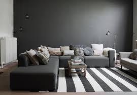 canapé gris foncé peinture salon grise 29 idées pour une atmosphère élégante