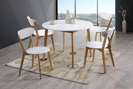 table et 4 chaises ensemble table 4 chaises malmo oslo blanc naturel