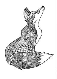 Coloring Pages Zentangle Animals Free On Art