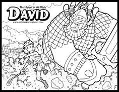 The Heroes Of Bible Coloring Pages David