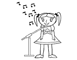 Great Girl Singing Coloring Pages With Harry Potter And Pdf