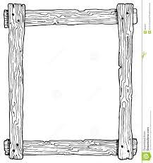 Wood Border Clipart 1