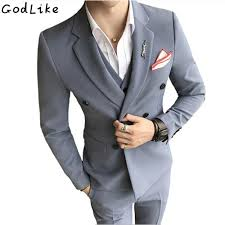 online get cheap mens double breasted suit aliexpress com