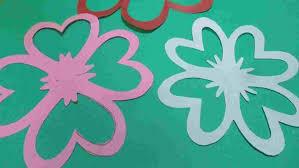 Paper Craft Petal Kidsu Crafts Rhfirstpalettecom Folding Easy Cutting Flowers Step By