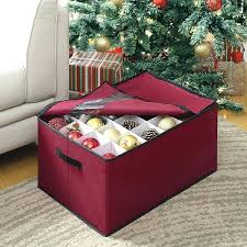 Ornament Box Storage With Dividers Holds 45