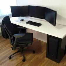 Computer Workstation Ideas Best Gaming Computer Desk Setup Fancy ... Contemporary Executive Desks Office Fniture Modern Reception Amazoncom Design Computer Desk Durable Workstation For Home Space Best Photos Amazing House Decorating Excellent Ideas Small For 2 Designs Creative Art Craft Studios Workbench Christian Decoration Appealing Articles With India Tag Work Stunning Pictures