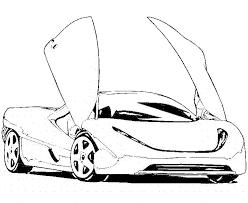 Racing Cars Coloring Pages Lamborghini