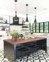 Batik Patterned Vinyl Tile Flooring For Modern Kitchens With Black