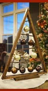 Rustic Wood Christmas Tree Thats Over 2 Feet Tall Love This As An Extra Spot For Bling Stained A Frame Ornament Display