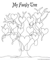 Print This I Love My Family Tree Coloring Page