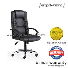 Ergodynamic BX-08 Faux Leather High Back Executive Office Chair, Pneumatic  Height Adjustment, 320mm Chromed Steel Base, Tilt Lock Mechanism (Black) High Back Black Fabric Executive Ergonomic Office Chair With Adjustable Arms Rh Logic 300 Medium Back Proline Ii Deluxe Air Grid Humanscale Freedom Task Furmax Desk Padded Armrestsexecutive Pu Leather Swivel Lumbar Support Oro Series Multitask With Upholstery For Staff Or Clerk Use 502cg Buy Chairoffice Midback Gray Mulfunction Pillow Top Cushioning And Flash Fniture Blx5hgg Mesh Biofit Elite Ee Height Blue Vinyl Without Esd Knob Workstream By Monoprice Headrest