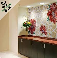 mb smm128 lotus painting bathroom decor handmade flower tile