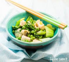 recette de cuisine saine recette minceur wok vert cuisine saine sans gluten sans lait