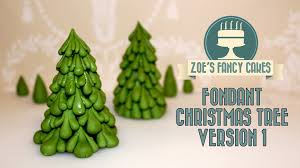 Christmas Tree Decorations Ideas Youtube by Fondant Christmas Tree Version 1 Video How To Tutorial Cake Topper